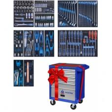Набор инструментов в синей тележке, 235 предметов KING TONY 934-235MMB
