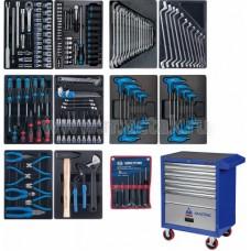 Набор инструментов в синей тележке, 173 предмета KING TONY 932-000MMB