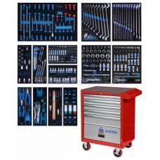 Набор инструментов в красной тележке, 286 предметов KING TONY 934-010MMR