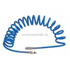 """Шланг пневматический спиральный высокого давления 8х12 мм, 15 м, М1/4, полиуретановый MIGHTY SEVEN SD-23115"""""""