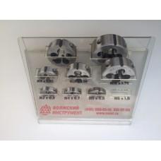 Комплект плашек М3-М16                                 (основные шаги, 9ХС)